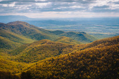 View of spring color in the Blue Ridge Mountains from Blackrock Royalty Free Stock Photos