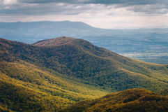 View of spring color in the Blue Ridge Mountains from Blackrock Royalty Free Stock Photography