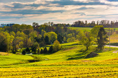 View of spring color in York County, Pennsylvania. Royalty Free Stock Photo