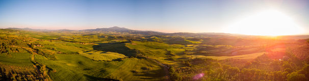 View of a spring day in the Italian rural landscape. Panoramic view of a spring day in the Italian rural landscape Royalty Free Stock Photography