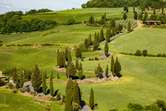 View of a spring day in the Italian rural landscape. Panoramic view of a spring day in the Italian rural landscape Stock Images