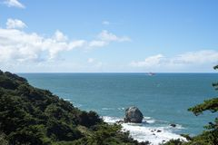Ocean View in Lands End, San Francisco. The view in spring in Lands End, San Francisco, CA, U.S stock photos