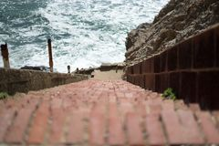 A stair in Lands End, San Francisco. The view in spring in Lands End, San Francisco, CA, U.S royalty free stock photography