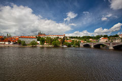 View on the spring Prague gothic Castle Stock Image