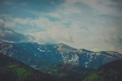 View at springtime mountains in Tatry Royalty Free Stock Images