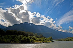 View of the Squamish River at Brackendale Park Royalty Free Stock Image
