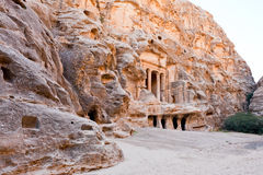 View of square in antique Little Petra Stock Photography