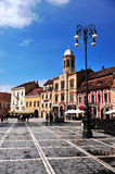 View of square in city centre of Brasov Royalty Free Stock Photo