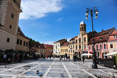 View of square in city centre of Brasov Stock Photography