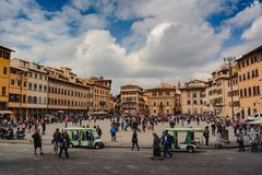 View of the square in Florence royalty free stock image