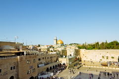 View of the square in front of the Western Wall in Jerusalem Royalty Free Stock Photo