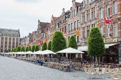 View of square Grote Markt there are visible various people Stock Photo