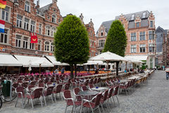 View of square Grote Markt Royalty Free Stock Photo