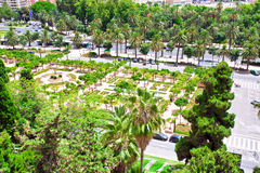 View on square in Malaga Royalty Free Stock Image