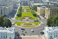 View of the square Rastrelli Royalty Free Stock Images