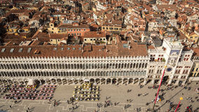 View on square San Marco from campanile, Venice, Italy Stock Image