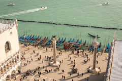 View on square San Marco near laguna from campanile, Venice, Italy Stock Image