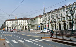 View of a square in Turin Stock Photography