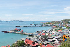 View of srichang island. Thailand royalty free stock image