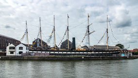 View of SS Great Britain, a passenger steamship in Bristol Royalty Free Stock Images