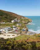 View of St Agnes Cornwall England UK Royalty Free Stock Images