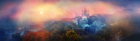 View of St. Andrew's church in Kiev Royalty Free Stock Image