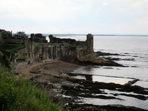 view of st andrews castle ruins,scotland Royalty Free Stock Photos