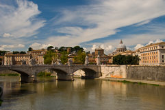 The view from St. Angelo Bridge Stock Images