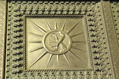A view of St. Anthony Basilica on Sunday - A detail of the entrance doors - Padua, Italy Stock Photography