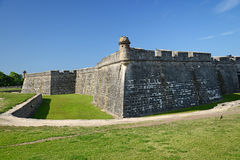 A view of the St Augustine Fort. Royalty Free Stock Image