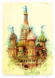 View of St. Basil's Cathedral Stock Photography