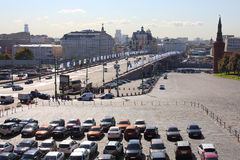 View from St Basils Cathedral on car parking Stock Photo