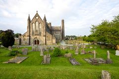 View of St Canices cathedral in Kilkenny in Ireland royalty free stock photography
