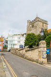 View of a St Clement church in Hastings, UK. HASTINGS, UK - MAY 13 2017: View of a St Clement church in Hastings, UK.The Church is one of two ancient churches royalty free stock image