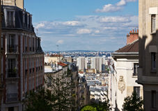 View of St. Denis from Montmartre. View of St. Denis from Paris's Montmartre district Royalty Free Stock Images