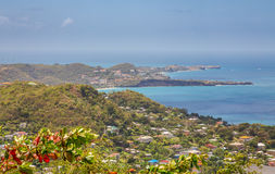 View of St. George City from the Fort Frederick`s, Grenada Royalty Free Stock Photo