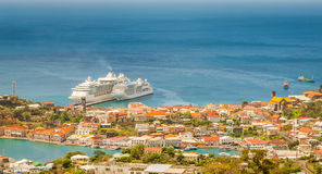 View of St. George City from the Fort Frederick`s, Grenada Stock Photo