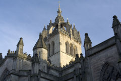 View of St Giles. From the Royal mile, Edinburgh Royalty Free Stock Photography