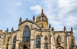 View of St. Giles' Cathedral in Edinburgh. Scotland Royalty Free Stock Image