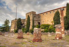 View of St. Giusto Castle, Trieste Stock Image