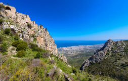View of St. Hilarion castle near Kyrenia 5 Royalty Free Stock Images