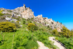 View of St. Hilarion castle near Kyrenia 7. A view of St. Hilarion castle near Kyrenia, Northern Cyprus stock photos