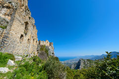 View of St. Hilarion castle near Kyrenia 26 Stock Image