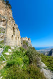View of St. Hilarion castle near Kyrenia 21 Royalty Free Stock Photos