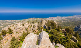 View from St. Hilarion castle near Kyrenia 3 Royalty Free Stock Photos