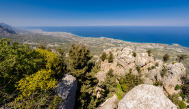 View from St. Hilarion castle near Kyrenia 5 Royalty Free Stock Images