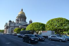 View of St. Isaac Cathedral. Stock Images