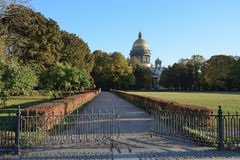 View of St. Isaac's Cathedral Admiralty embankment Royalty Free Stock Images
