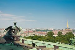 View from St Isaac`s Cathedral in St Petersburg. Beautiful view from St Isaac`s Cathedral in Saint Petersburg, Russia Stock Images