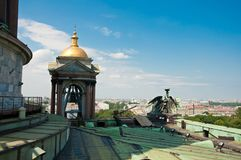 View from St Isaac`s Cathedral in St Petersburg. Top view from St Isaac`s Cathedral in Saint Petersburg, Russia Stock Image